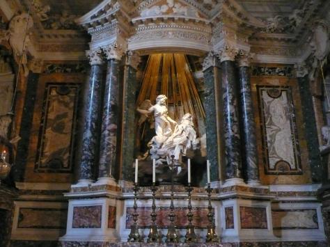 Gian Lorenzo Bernini, Ecstasy of Saint Teresa, 1647-52 Cornaro Chapel, Santa Maria della Vittoria, Rome