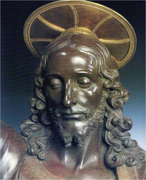 Detail of Christ's face